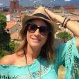 Eve Angeli dévoile le visage de son nouveau chéri, Chrisophe. Le 29 juin 2015. Les amoureux passent du bon temps à Saint-Tropez.