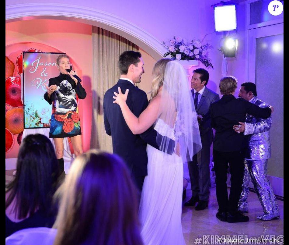 Céline Dion chante à un mariage à Las Vegas dans le cadre de