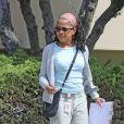 Exclusif - Doria Ragland, assistante sociale à Los Angeles, Californie, Etats-Unis, le 4 avril 2019, se rend à des rendez-vous, quelques semaines à peine avant que sa fille (M.Markle, duchesse de Sussex), ne donne naissance à son première enfant à Londres.