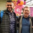 Mohamed, Frédéric et Sébastien de Koh-Lanta, le 13 avril 2019 avant le Marathon de Paris.