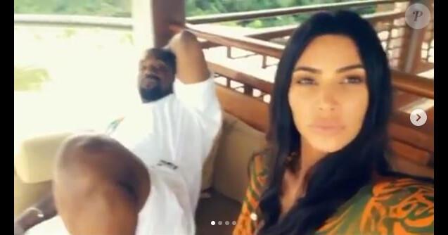 Kanye West et Kim Kardashian en vacances à Bali, en Indonésie. Avril 2019.