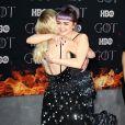 """Maisie Williams et Sophie Turner à la première de """"Game of Thrones - Saison 8"""" au Radio City Music Hall à New York, le 3 avril 2019."""