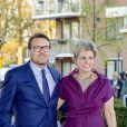 Le prince Constantijn et la princesse Laurentien des Pays-Bas à Amersfoort le 15 avril 2019 pour le concert du Jour du Roi (27 avril).