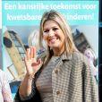 La reine Maxima des Pays-Bas arrive au congrès MeeleefGezin à Doorn le 16 avril 2019.