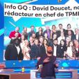 """Cyril Hanouna s'exprime sur les rumeurs de recrutement de David Doucet dans l'équipe de """"Touche pas à mon poste"""". Emission du 17 avril 2019 diffusée sur C8."""
