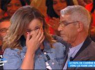 Chimène Badi tremblante et les larmes aux yeux : son papa lui fait une surprise