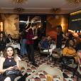 Ambiance - Soirée pour le lancement de l'application LOOX, première plateforme de réservations haut-de-gamme, qui regroupe l'ensemble des professionnels du bien-être, à la Maison du Caviar, à Paris, le 19 Avril 2019 © Pierre Perusseau / Bestimage