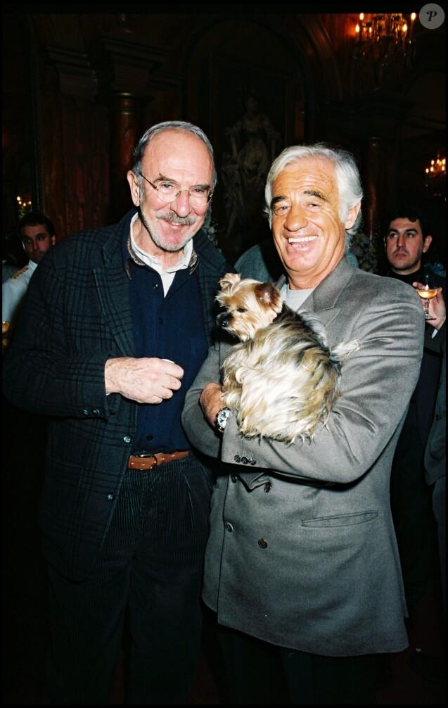 Jean-Pierre Marielle et Jean-Paul Belmondo le 10 avril 1998.