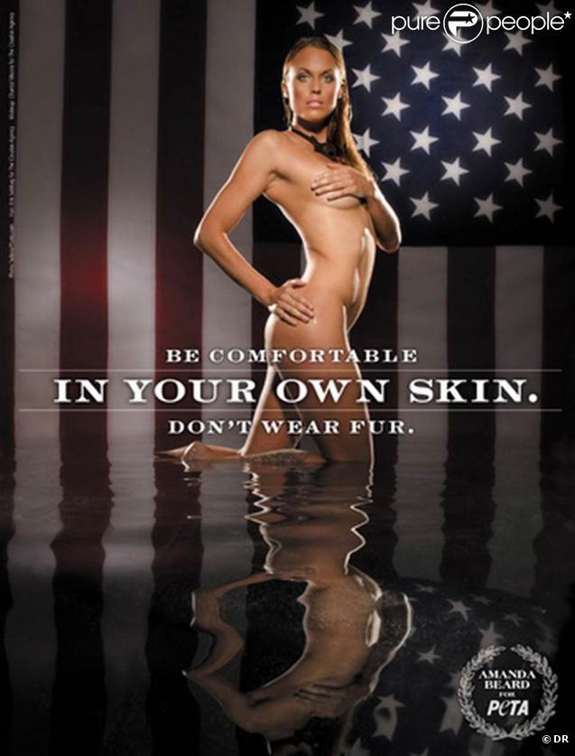 La superbe nageuse américaine Amanda Beard pour la PeTA !