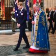 Le prince Harry, duc de Sussex - La famille royale d'Angleterre en l'abbaye de Westminster à Londres pour le service commémoratif de l'ANZAC Day. Le 25 avril 2019