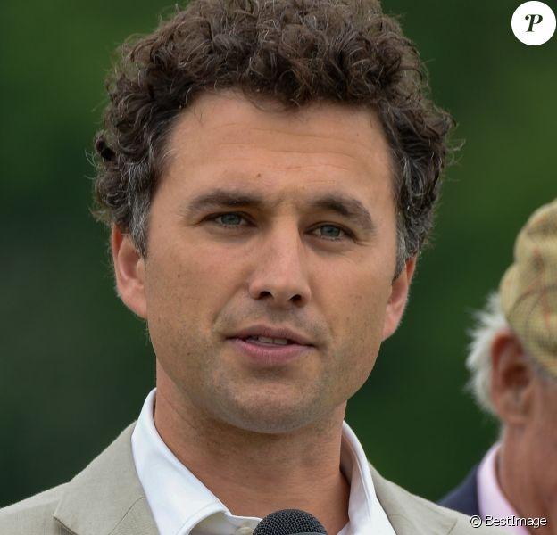 Thomas Van Straubenzee, ami du prince William et parrain de la princesse Charlotte de Cambridge, lors d'un match de polo caritatif disputé par le duc de Cambridge à Cirencester Park au profit de l'association Henry van Straubenzee Memorial Fund le 25 mai 2018.