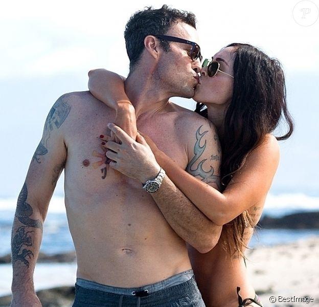 Exclusif - Megan Fox et Brian Austin Green en vacances sur l'île de Kailua-Kona à Hawaï le 28 mars 2018.