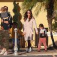 Exclusif - Megan Fox et Brian Austin Green emmènent leurs enfants Bodhi, Noah et Journey passer la journée chez Color Me Mine à Los Angeles, le 17 février 2019