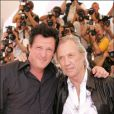 David Carradine et Michael Madden au festival de Cannes 2004 pour Kill Bill 2