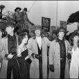 Keith, David et Robert Carradine au festival de Cannes 1980 pour Le Gang des Fréres James