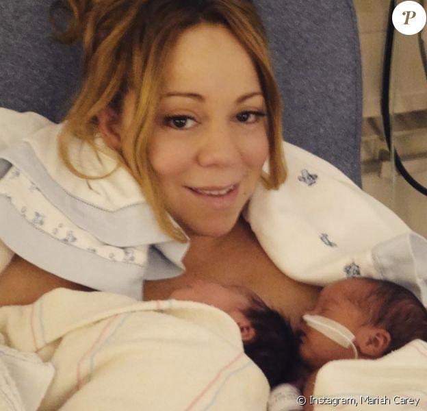 Mariah Carey, le jour de son accouchement et de la naissance de ses jumeaux, Moroccan et Monroe.