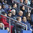 Raymond Domenech et Jean-Michel Apathie - People au match de Ligue 1 entre le Psg contre l'OGC Nice au Parc des Princes à Paris le 4 mai 2019.