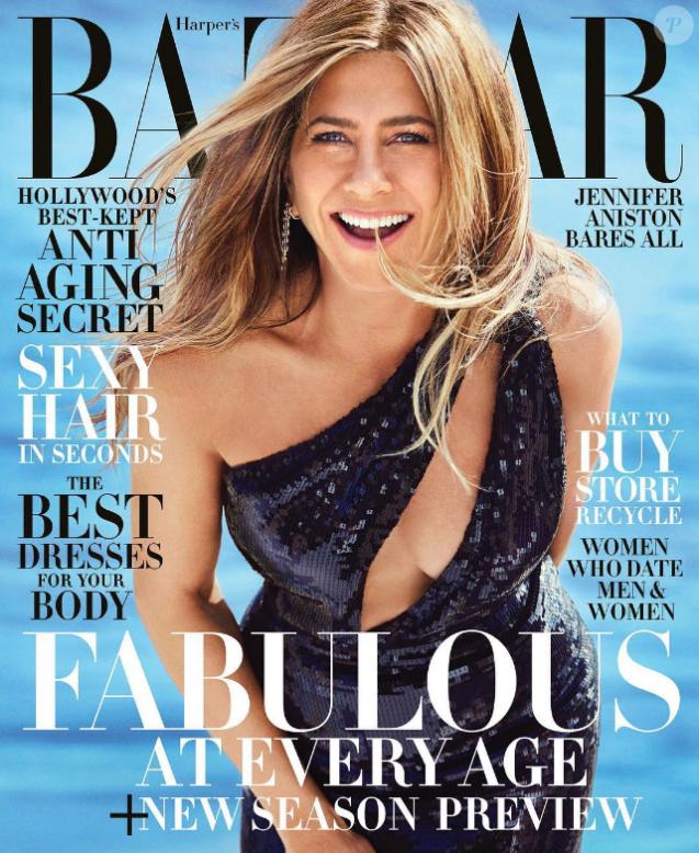 Couverture du Harper's Bazaar- Jennifer Aniston- Numéro juin/juillet 2019.