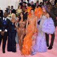 """Corey Gamble, Kris Jenner, Kim Kardashian, Kanye West, Kendall Jenner, Kylie Jenner et Travis Scott - Arrivées des people à la 71ème édition du MET Gala (Met Ball, Costume Institute Benefit) sur le thème """"Camp: Notes on Fashion"""" au Metropolitan Museum of Art à New York, le 6 mai 2019."""