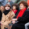 Exclusif - Lou Villafranca, la fille de Maurane, et Jeannie Patureaux, la mère de l'artiste-Inauguration du square Maurane, un an après sa mort, à Schaerbeekprès de Bruxelles, Belgique, le 7 mai 2019. © Alain Rolland / Imagebuzz / Bestimage