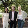 Lancement de la campagne Meat free Monday, à Londres, le 15 juin 2009 : Paul McCartney et ses filles Mary et Stella