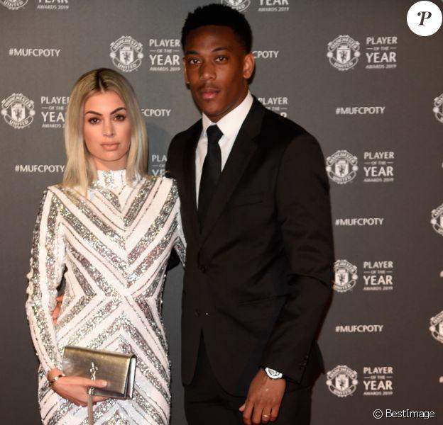 Anthony Martial et Mélanie Da Cruz lors de la soirée du prix du joueur de l'année de Manchester United 2019 au stade Old Trafford à Manchester, Royaume Uni, le 9 mai 2019.