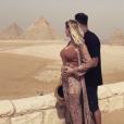 Jessica Thivenin enceinte et en voyage en Egypte. Avril 2019.