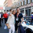 John Leguizamo, sa femme Justine Maurer - 3ème Monaco E-Prix, Monaco, le 11 mai 2019. © Claudia Albuquerque / Bestimage