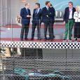 Le prince Albert II de Monaco, Alejandro Agag, PDG et fondateur du championnat de Formule E, Pierre Casiraghi- 3ème Monaco E-Prix, Monaco, le 11 mai 2019. © Bruno Bebert / Bestimage