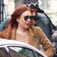 Lindsay Lohan de retour à son hôtel après une visite à Access Live à New York le 10 janvier 2019. Elle a nié tout drame entre elle et K.Kardashian