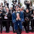 """L'artiste JR - Montée des marches du film """"Les Misérables"""" lors du 72ème Festival International du Film de Cannes. Le 15 mai 2019 © Jacovides-Moreau / Bestimage"""