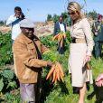 La reine Maxima des Pays-Bas a rencontré le 14 mai 2019 des agriculteurs dans la région de Debre Berhan lors de sa visite officielle de deux jours en Éthiopie.