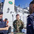 Le roi Willem-Alexander des Pays-Bas lors d'une visite de travail au groupe de plongée de défense et au service des mines de la Marine royale néerlandaise à Den Helder, le 14 mai 2019.