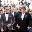 """Dexter Fletcher, Taron Egerton, Elton John (Lunettes Gucci), David Furnish - Montée des marches du film """"Rocketman"""" lors du 72ème Festival International du Film de Cannes. Le 16 mai 2019 © Jacovides-Moreau / Bestimage"""