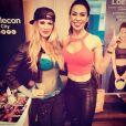 Ashley Massaro, ancienne Diva de la WWE, est morte à 39 ans le 16 mai 2019. Photo Instagram du 9 avril 2019 avec la coach de fitness Rochelle Loewen à New York