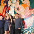 """Richard Luiz, Gisele Bündchen, Alice Braga et Paulo Borges, lors de l'avant-première du documentaire """"Top Models"""", de Richard Luiz, à Sao Paulo, au Brésil, le 15 juin 2009 !"""