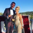 """Carla des """"Marseillais"""" radieuse avec Kevin au mariage de Julien Tanti et Manon Marsault - Instagram, 5 mai 2019"""
