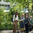 """Kate Middleton, duchesse de Cambridge, a accueilli des écoliers dans son jardin baptisé """"Back to Nature"""" au """"Chelsea Flower Show 2019"""" à Londres, le 20 mai 2019, premier jour de l'exposition florale."""