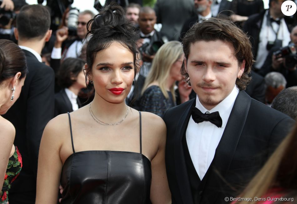 "Brooklyn Beckham et sa compagne Hana Cross à la projection du film ""Once Upon a Time... in Hollywood"" lors du 72ème Festival International du Film de Cannes, France, le 21 mai 2019. © Denis Guignebourg/Bestimage"