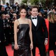 "Hana Cross (habillée en Salvatore Ferragamo) et son compagnon Brooklyn Beckham (habillé en Salvatore Ferragamo) lors de la montée des marches du film ""Once upon a time... in Hollywood"" lors du 72ème Festival International du Film de Cannes. Le 21 mai 2019 © Jacovides-Moreau / Bestimage"
