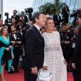 """Christian Estrosi et sa femme Laura Tenoudji - Montée des marches du film """"A Hidden Life"""" lors du 72ème Festival International du Film de Cannes. Le 19 mai 2019 © Borde / Bestimage"""