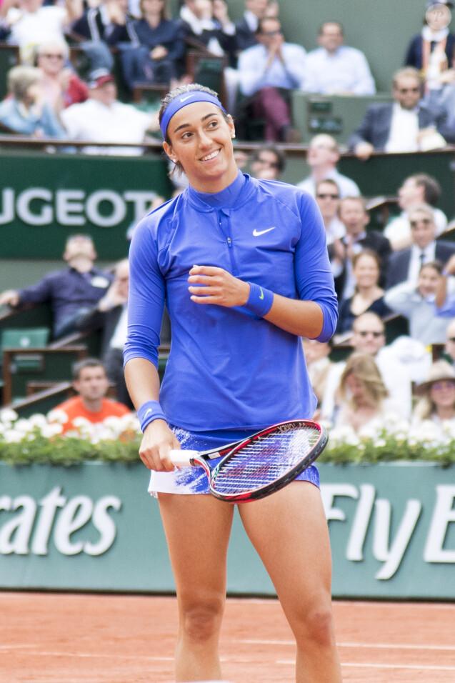 Caroline Garcia est éliminée par Karolina Pliskova en quart de finale des Internationaux de Tennis de Roland Garros (7-6, 6-4) à Paris, le 6 juin 2017. © Pierre Perusseau/Bestimage