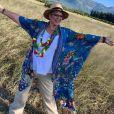 """Laurence Boccolini radieuse en Afrique du Sud pour le tournage de """"Je suis une célébrité, sortez-moi de là"""" (TF1) en mars 2019."""