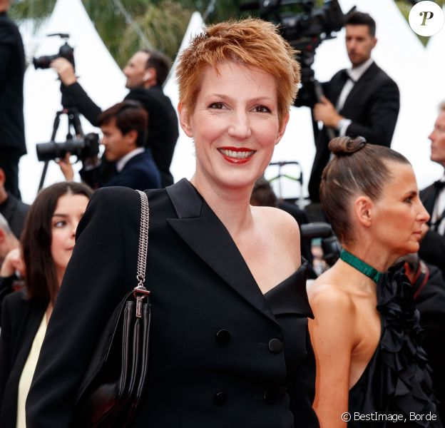 "Natacha Polony - Montée des marches du film ""Sibyl"" lors du 72ème Festival International du Film de Cannes. Le 24 mai 2019 © Borde / Bestimage"