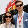 La princesse Alexandra de Hanovre et son compagnon Ben-Sylvester Strautmann visitent les paddocks lors des essais du 77 ème Grand prix de Formule 1 (F1) de Monaco le 25 Mai 2019. © Bruno Bebert / Bestimage