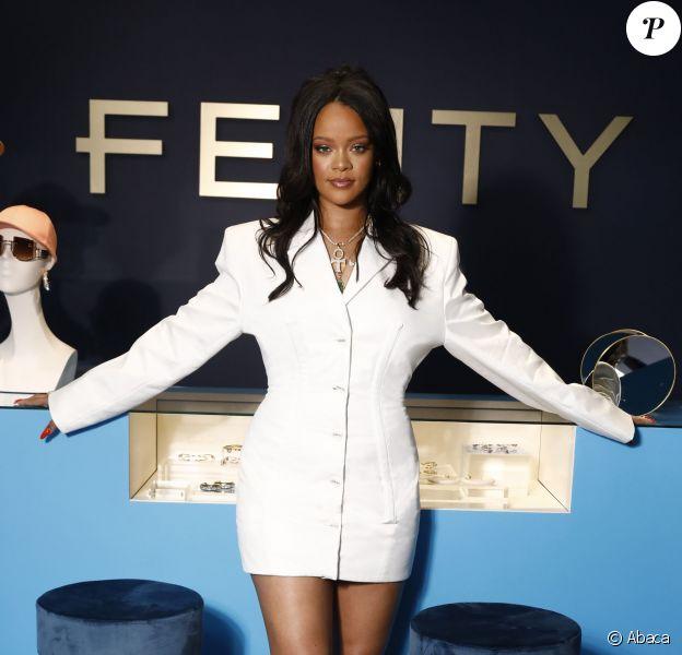 """Rihanna assiste au cocktail de présentation de la première collection de """"Fenty"""". Paris, le 22 mai 2019."""