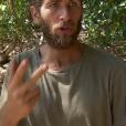 """Nicolas, très énervé dans """"Koh-Lanta, la guerre des chefs"""" (TF1) vendredi 24 mai 2019."""