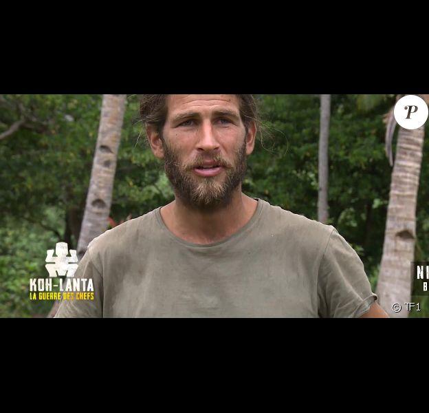 "Nicolas dans ""Koh-Lanta, la guerre des chefs"" (TF1), le 17 mai 2019."