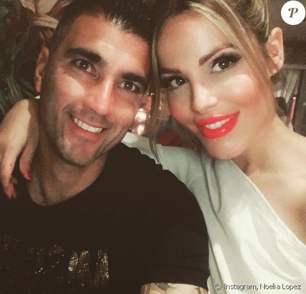 José Antonio Reyes et son épouse Noelia Lopez sur Intsgram en mai 2019.