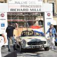 Audrey Marnay (marraine de la 20ème édition du Rallye des Princesses) au volant d'une Mercedes 280 SL - Départ de la 20ème édition du Rallye des Princesses Richard Mille sur la place Vendôme à Paris, France, le 1er juin 2019. © Giancarlo Gorassini/Bestimage